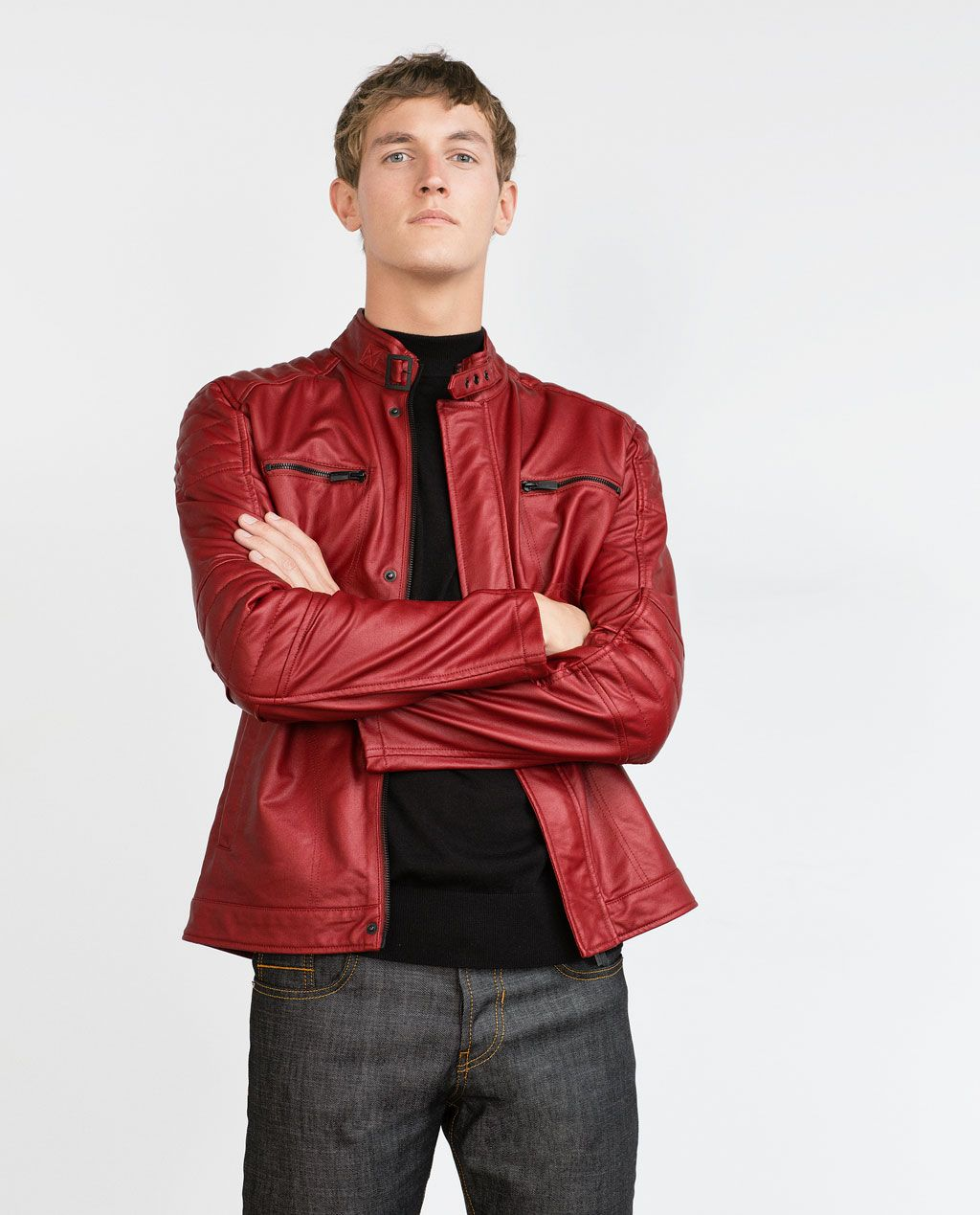 Image 3 of BIKER JACKET from Zara Jackets, Leather
