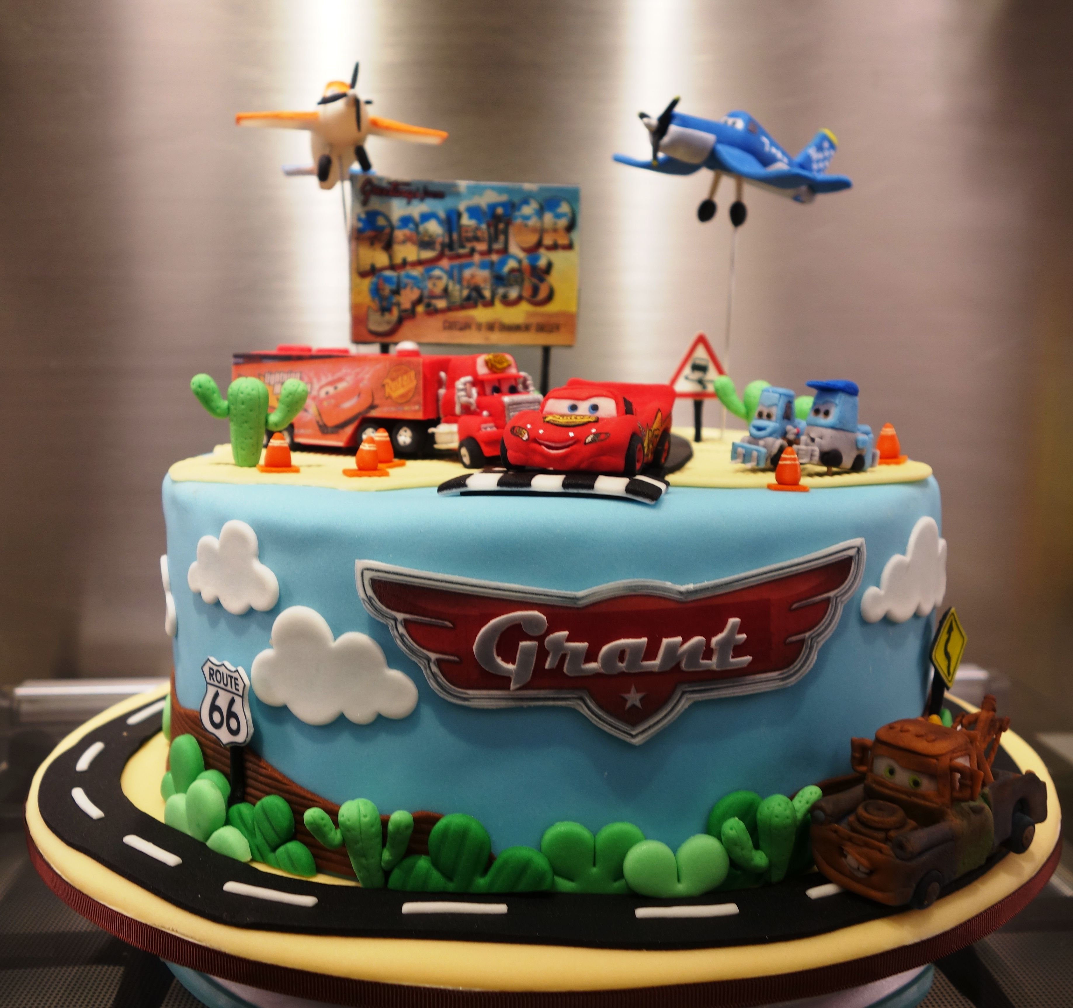 Fabulous Disney Cars And Planes Cake Planes Cake Crazy Cakes Planes Birthday Cards Printable Trancafe Filternl
