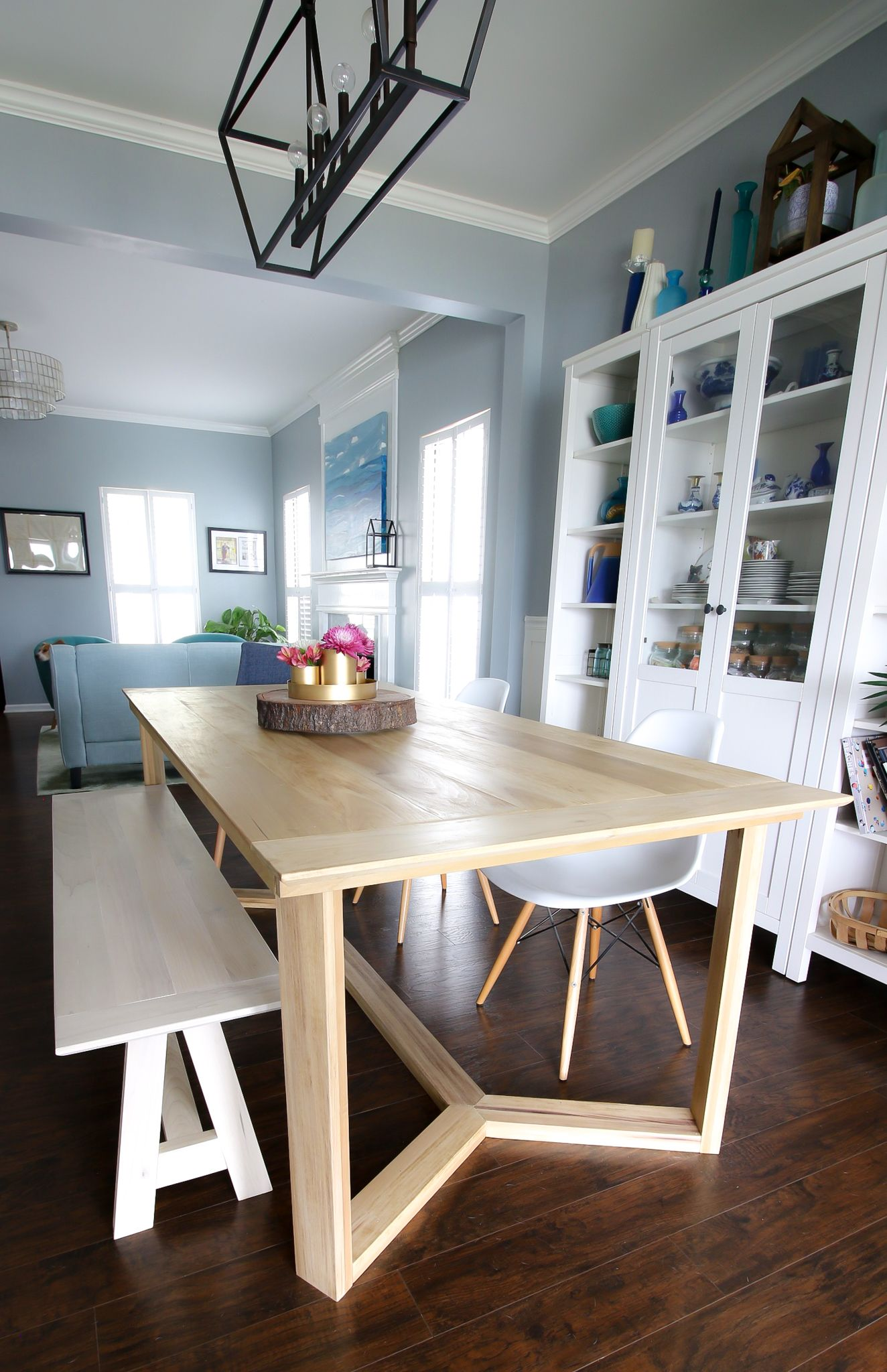 Diy Angled Base Dining Table In 2020 Diy Furniture Easy Wooden