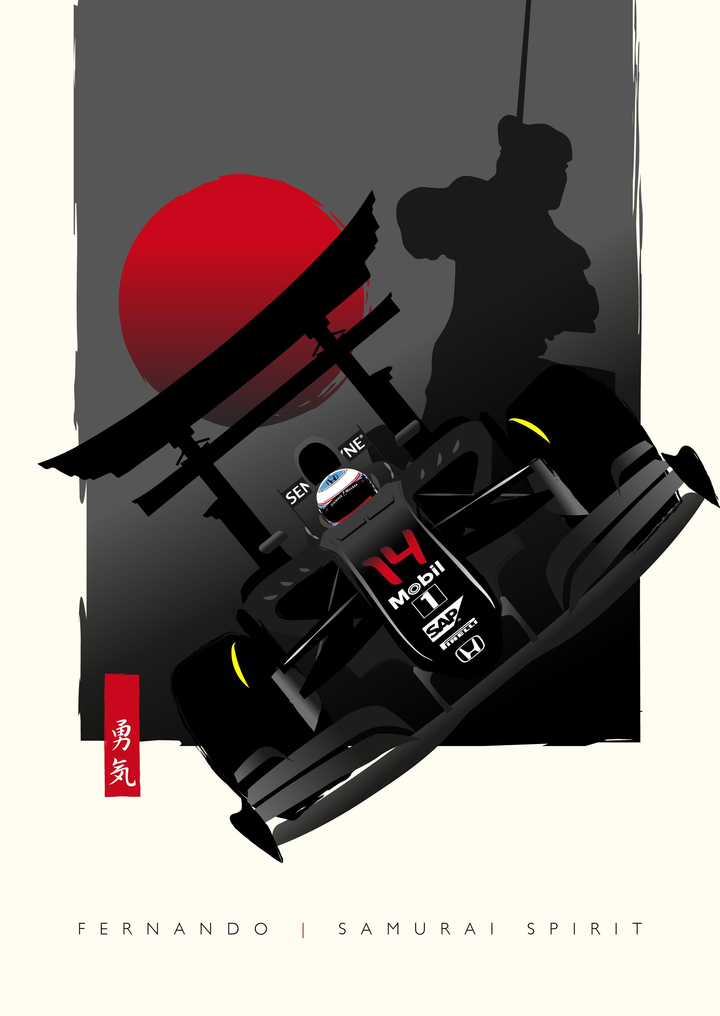 Fan Art Fernando Alonso Mclaren Honda Japanese Grand Prix 2016 Japanese Grand Prix F1 Poster Fan Art