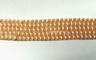 Clearance Sale -- 25 Swarovski 4mm PEARL 5810 crystal beads PEACH