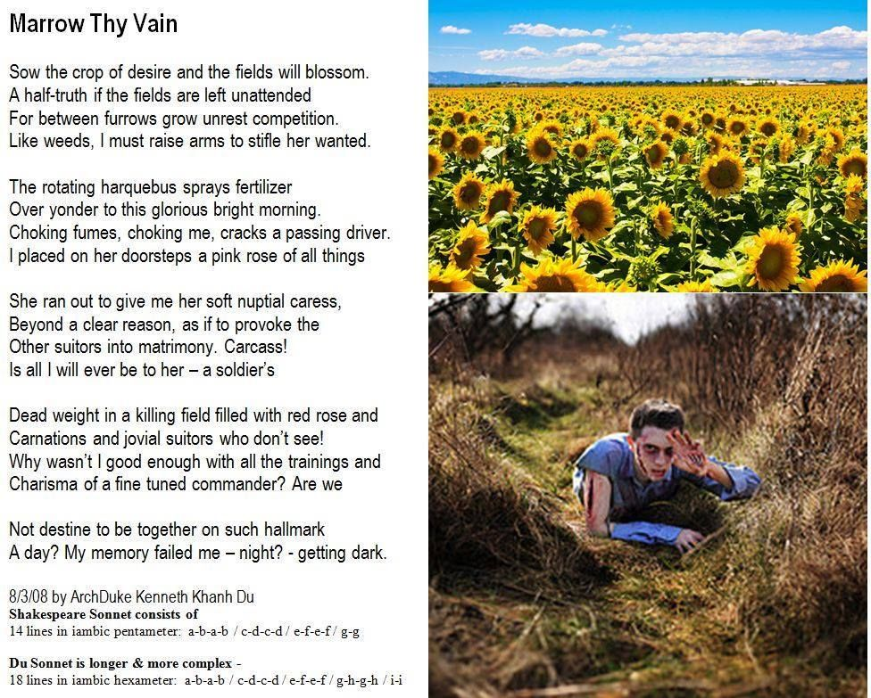 Marrow Thy Vain Du Sonnet The Father Of Modern Poetry Archduke Kenneth Khanh 154 Paraphrase