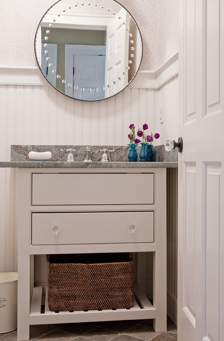 Image result for furniture vanity against a corner wall ...