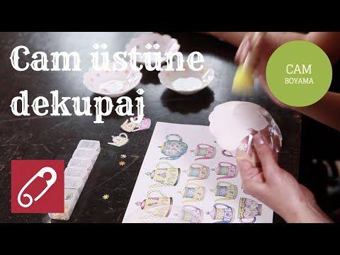 Video Cam Boyama Tabak üzerine Dekupaj Nasıl Yapılır 10marifet