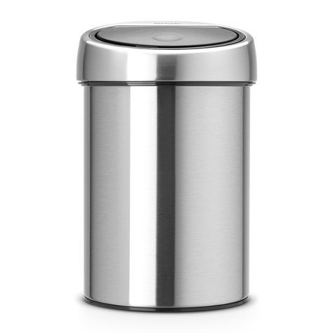 Touch Bin, 3 liter - Matt Steel Fingerprint Proof - Afvalemmer ...