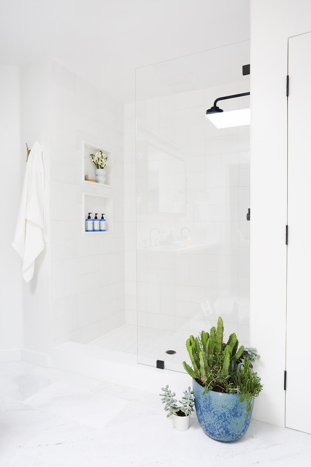 White, Minimal Bathroom Renovation