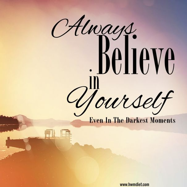 Beautiful Inspirational Typographic Quote   Always Believe In Yourself By Melissa  King, Via Shutterstock