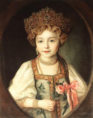 A Little Grand Duchess Alexandra Pavlovna Of Russia C 1789 By
