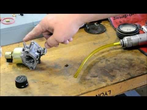 Briggs And Stratton Carburetor Repair Gas Shoots Out Of Muffler Crankcase Full Of Gas Youtube Repair Lawn Mower Repair Bike Repair