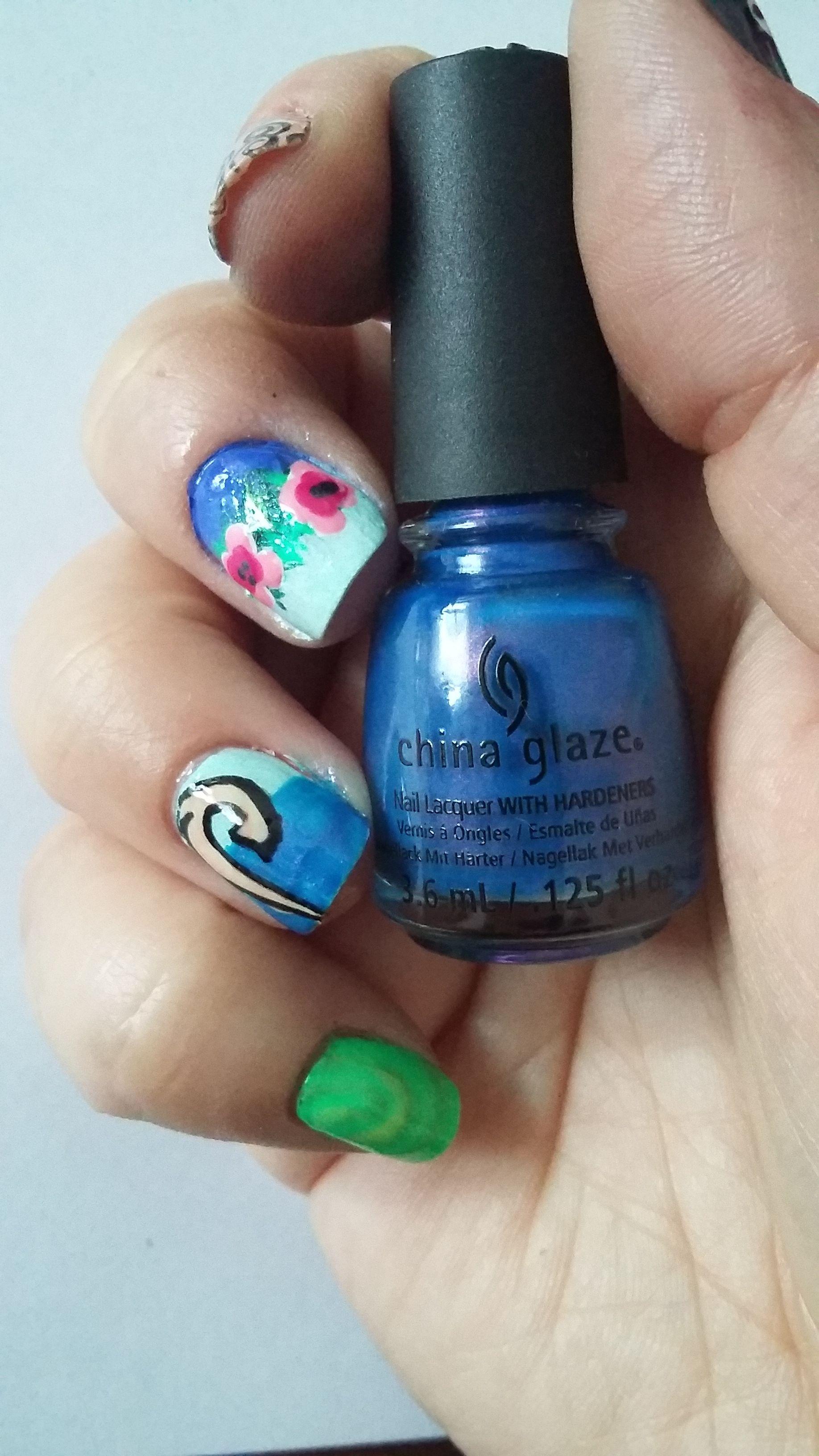 Moana nails | Nails | Pinterest