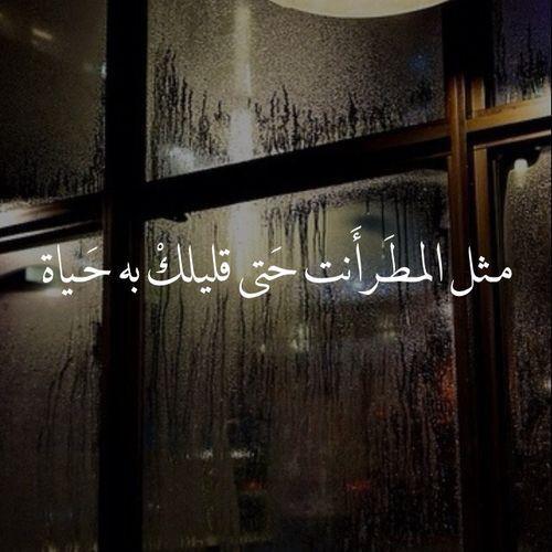 مثل المطر انت قليلك فيه حياة حب عشق عربي Funny Arabic Quotes Love Words Arabic Quotes