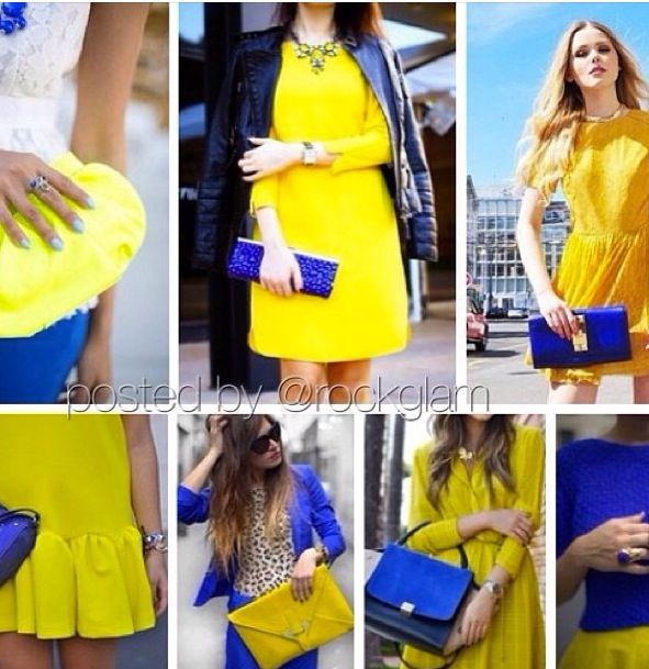 Yellow And Blue Outfits