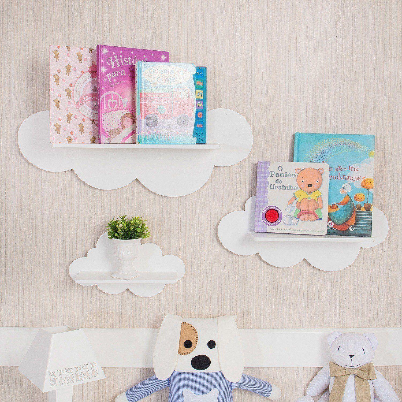 O Trio De Prateleiras Nuvem Perfeito Para O Quarto Montessori  ~ Como Fazer Quadros Decorativos Para Quarto De Bebe