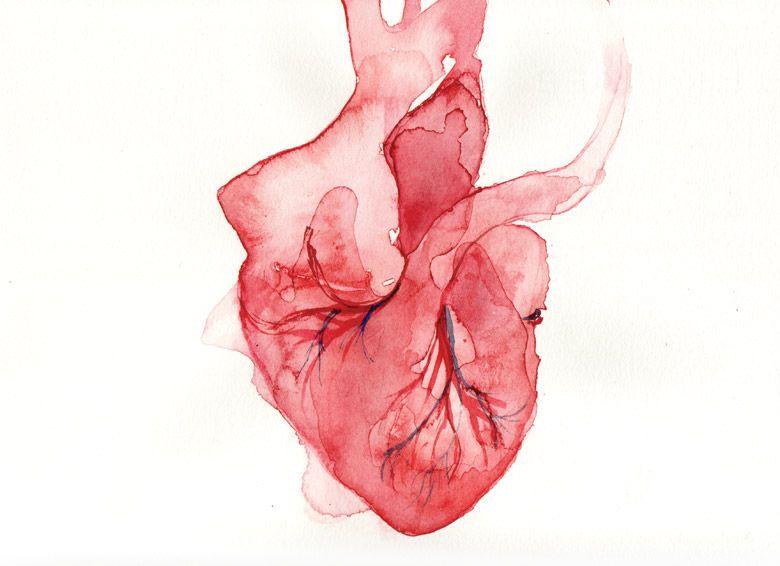 Title #6 Watercolor real heart . | Ref. Lightbulb/haerts | Pinterest ...