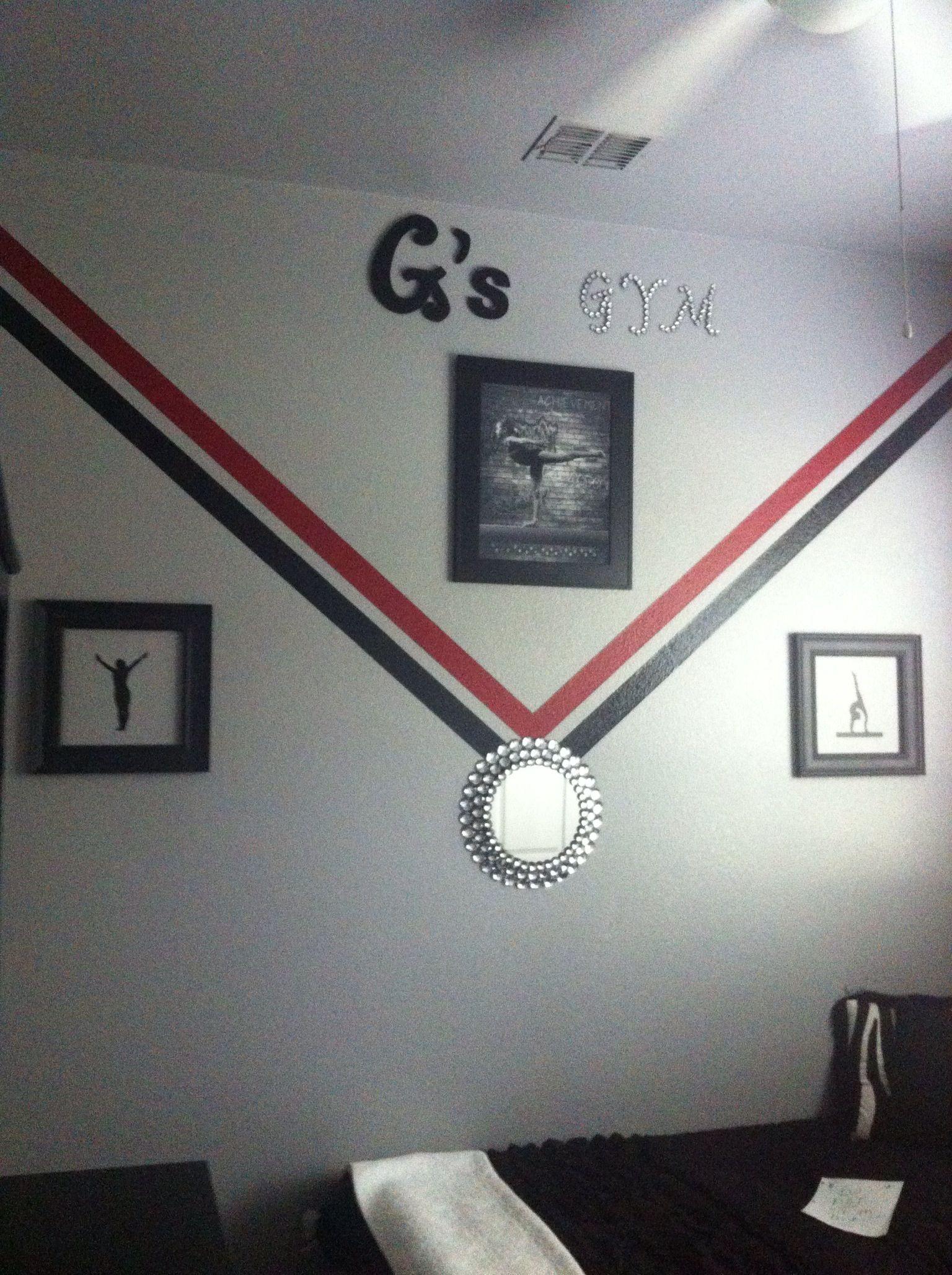 Girl's gymnastic room | Gymnastics bedroom, Gymnastics decor