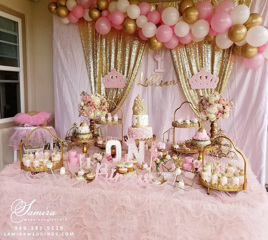Samira Nosrati On Instagram Happy 1st Birthday Princes Lillian 1stbirthday Birthdaysettings Birthday Decorations First Birthday Decorations Birthday Theme