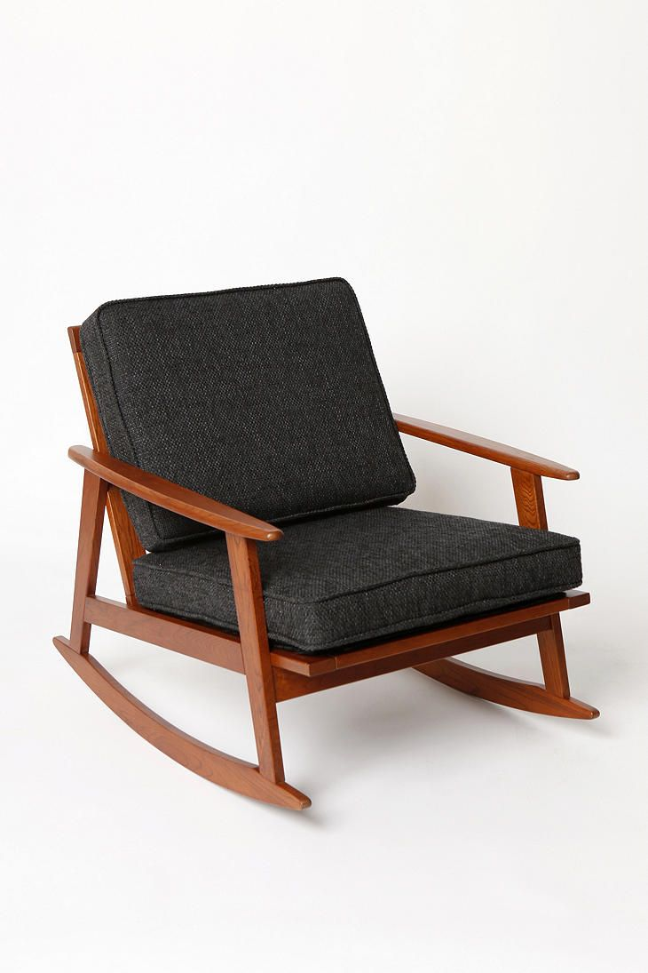Totally would recover but could be pretty cool mid century rocker chair urbanoutfitters