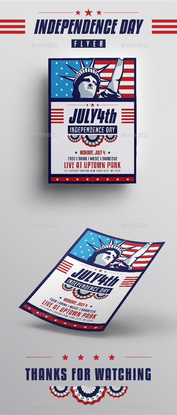 Independence Day Flyer  Flyer Template Ai Illustrator And Event