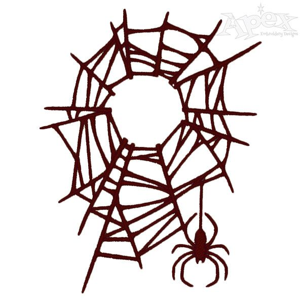 Spider Web Embroidery Design Animal Embroidery Designs Halloween Embroidery Designs Embroidery Designs