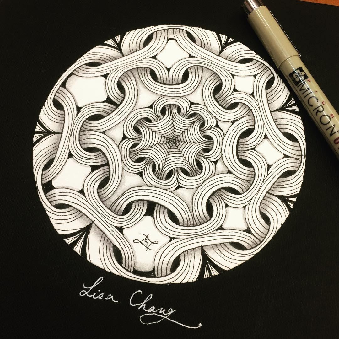 Zentangle Doodle by Lisa Chang