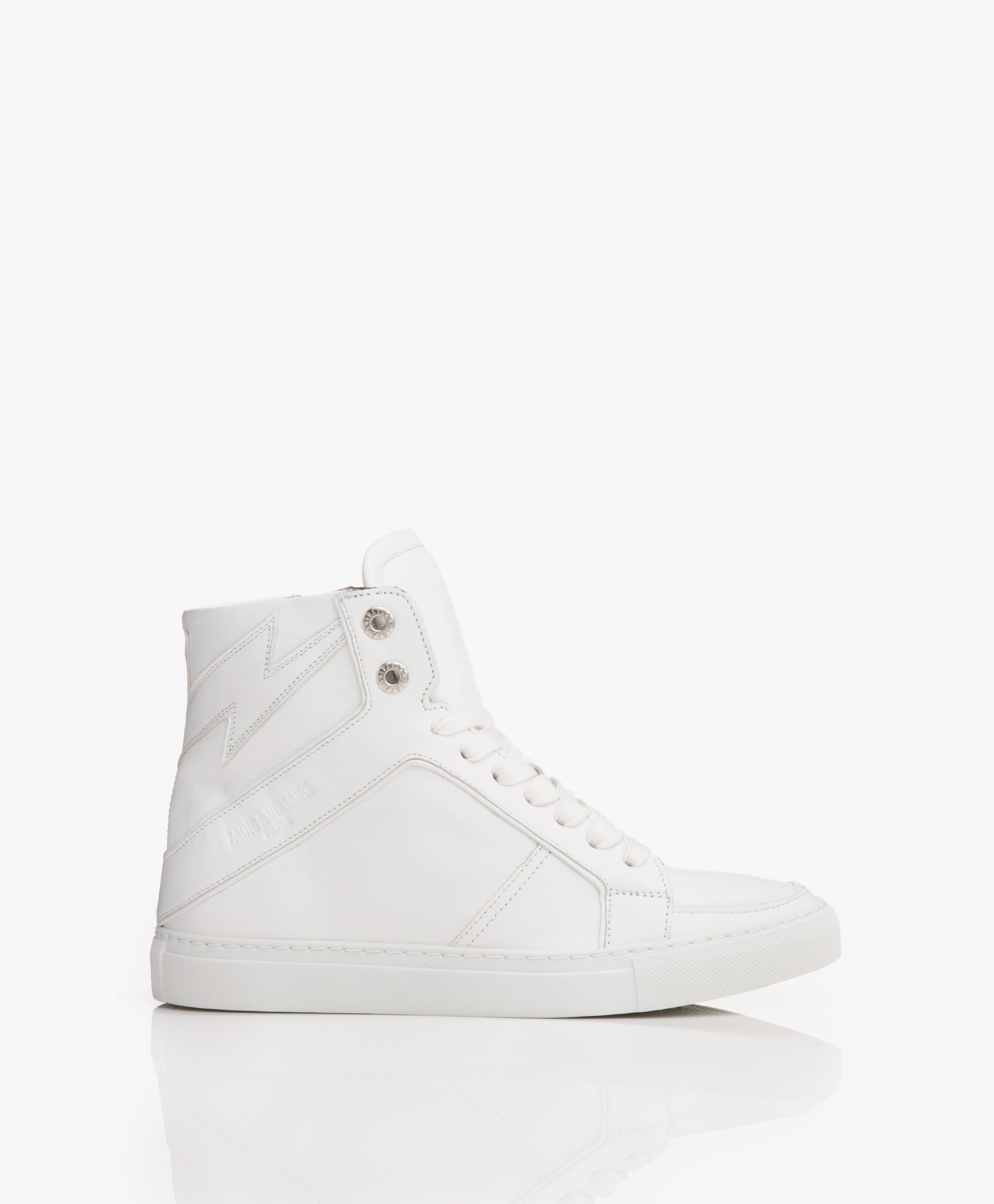 Leren Gympen Zadig & Voltaire High Flash Leren Sneakers - Wit | Sneaker