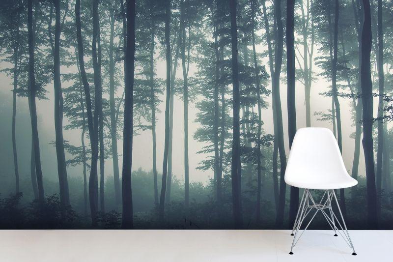 Sea of trees forest mural wallpaper muralswallpaper co uk