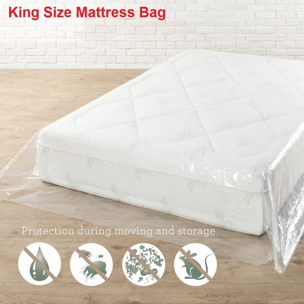 King Mattress Protective Dust Cover Plastic Packaging Bag For Transport  Storage #Unbranded