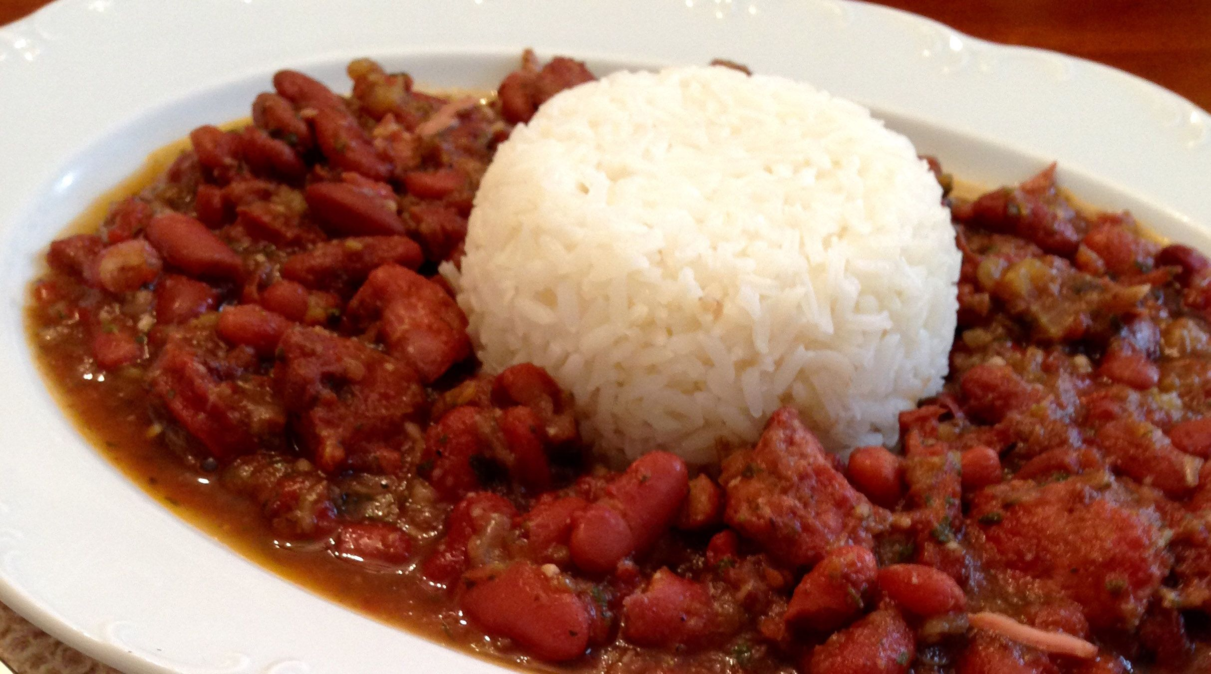Photo of Red Beans & Rice Served both in private homes and restaurants, Red beans and ric…
