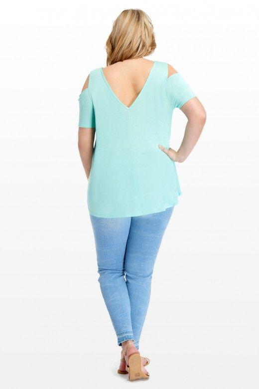 Plus Size Cassie Cold Shoulder Top | Fashion To Figure
