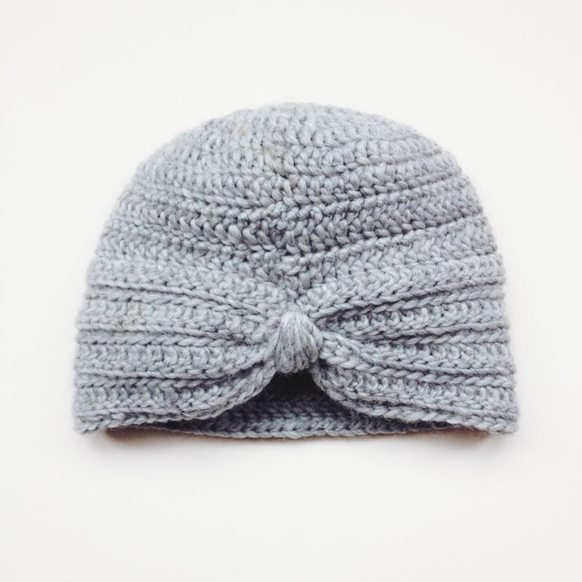 available from Lil' Beans Loom Piper Turban Hat (Light Grey)