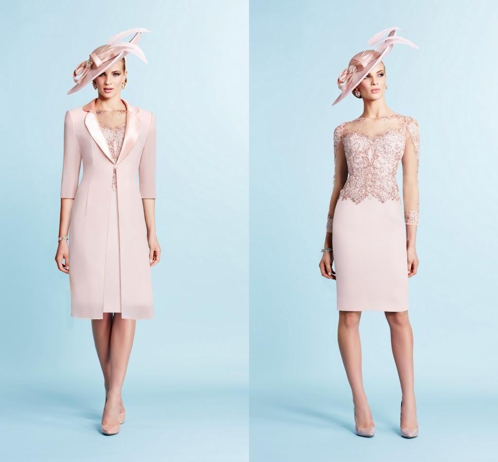 2015 Blush Mother\'s Wedding Dresses with Jacket Ronald Joyce Sheer ...