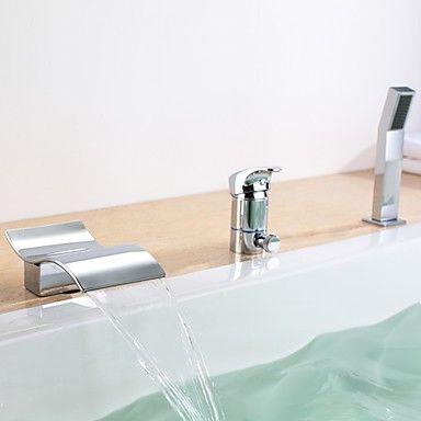 Badewannenarmaturen Zeitgenössisch - Wasserfall / Handdusche ... | {Badewannenarmaturen 10}