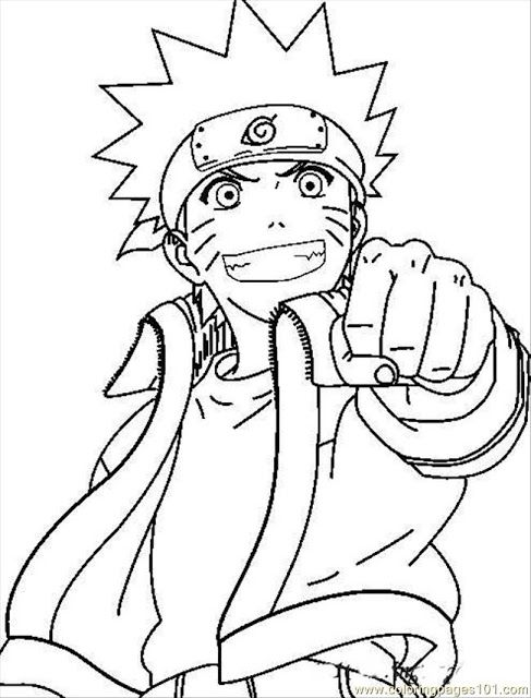 Naruto Coloring Page Cartoon Coloring Pages Naruto Drawings