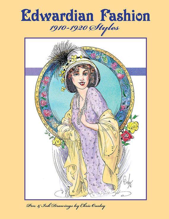 Edwardian Fashion 1910-1920 Styles: by ChrisOusleysStudio on Etsy