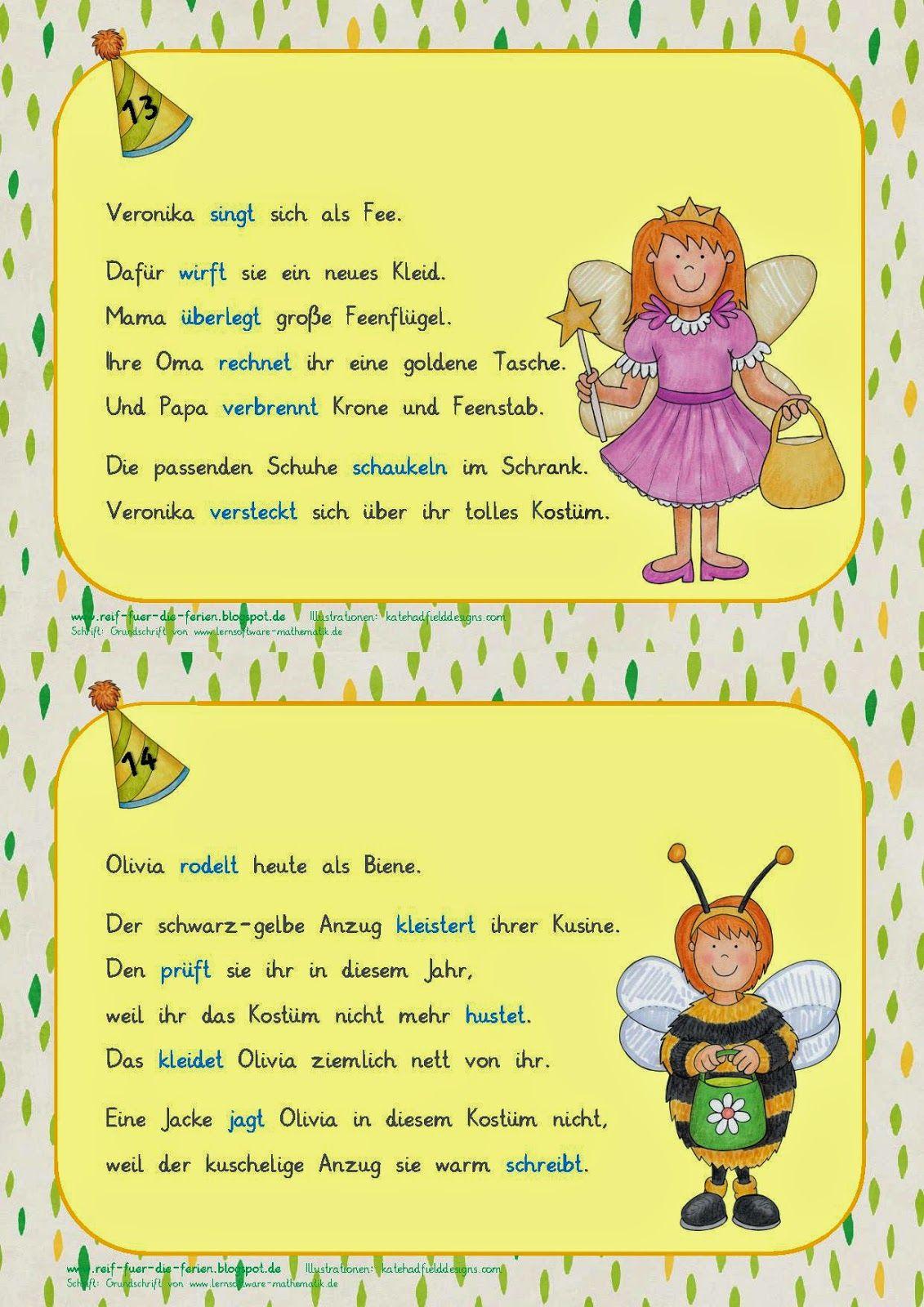 Verben-Fasching - einfacher | Német | Pinterest | Deutsch, German ...
