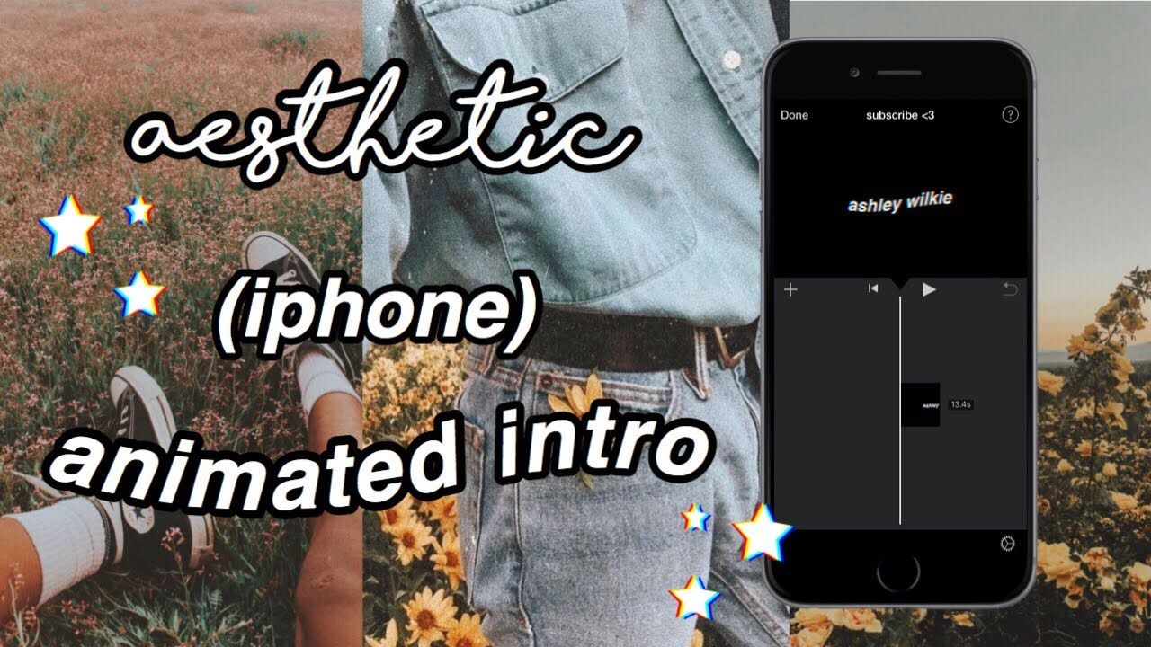 How To Make An Aesthetic Youtube Intro On Your Iphone Intro Intro Youtube Youtube Channel Ideas