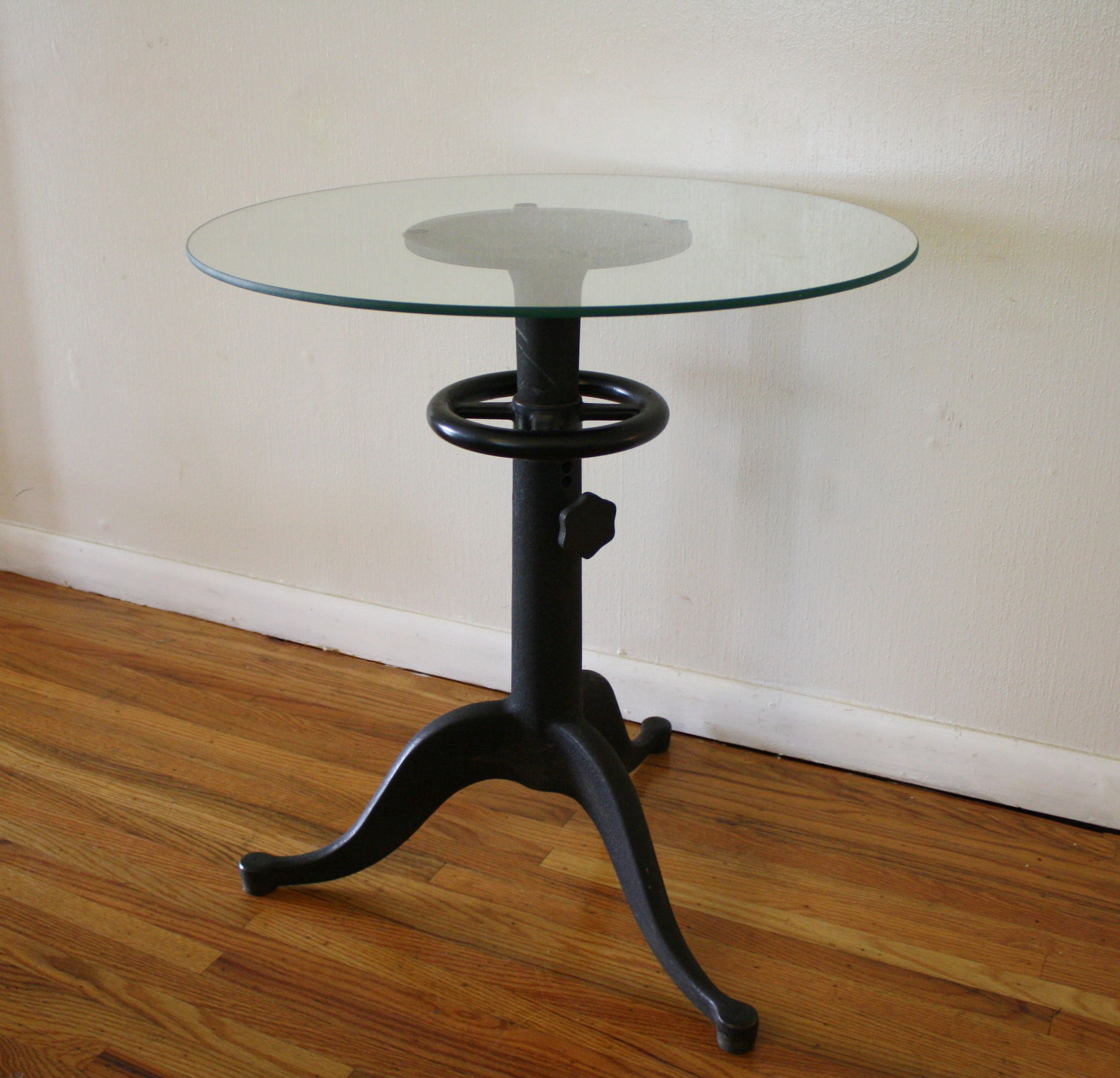 Antique Cast Iron Table With Glass Top Steampunk Chic Picked Iron Table Side Table Antique Cast Iron [ 2516 x 2614 Pixel ]