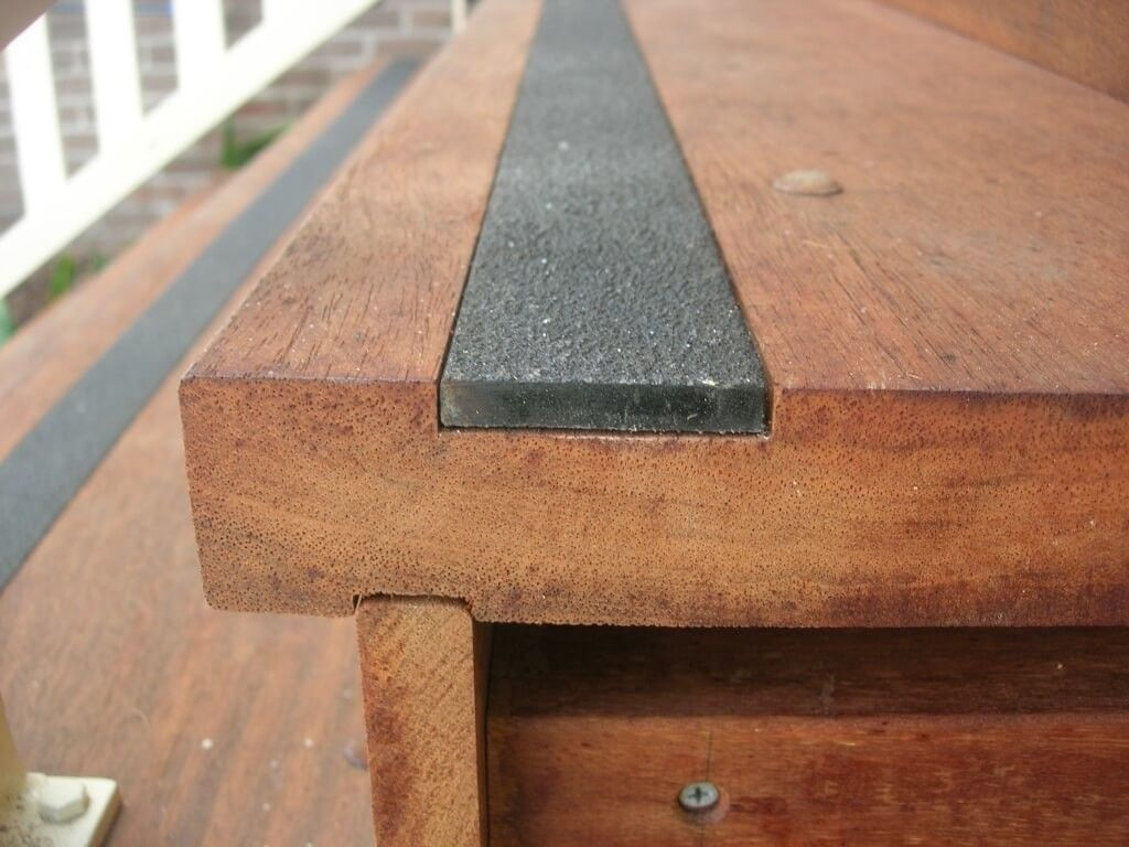 Flooring Inlay Non Slip Stair Treads For Outdoor Stairs Outdoor   Outdoor Tread For Steps   Pressure Treated   Wood   Deck Stairs   Non Slip   Granite