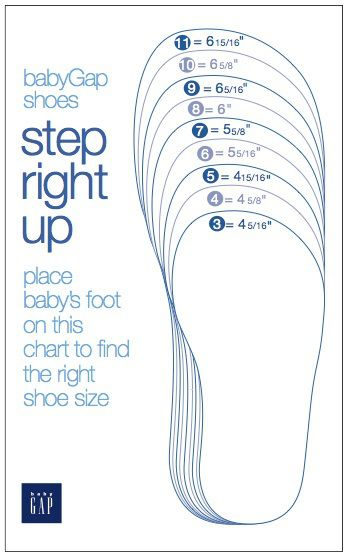 Baby Gap Shoes Size Chart Sew For Kids Pjs