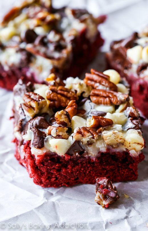 Become an explorer of desserts with this recipe for Red Velvet Seven Layer Bars. Each delicious layer you come across, like coconut, pecans, and white chocolate chips, will be a whole new adventure for your tastebuds.