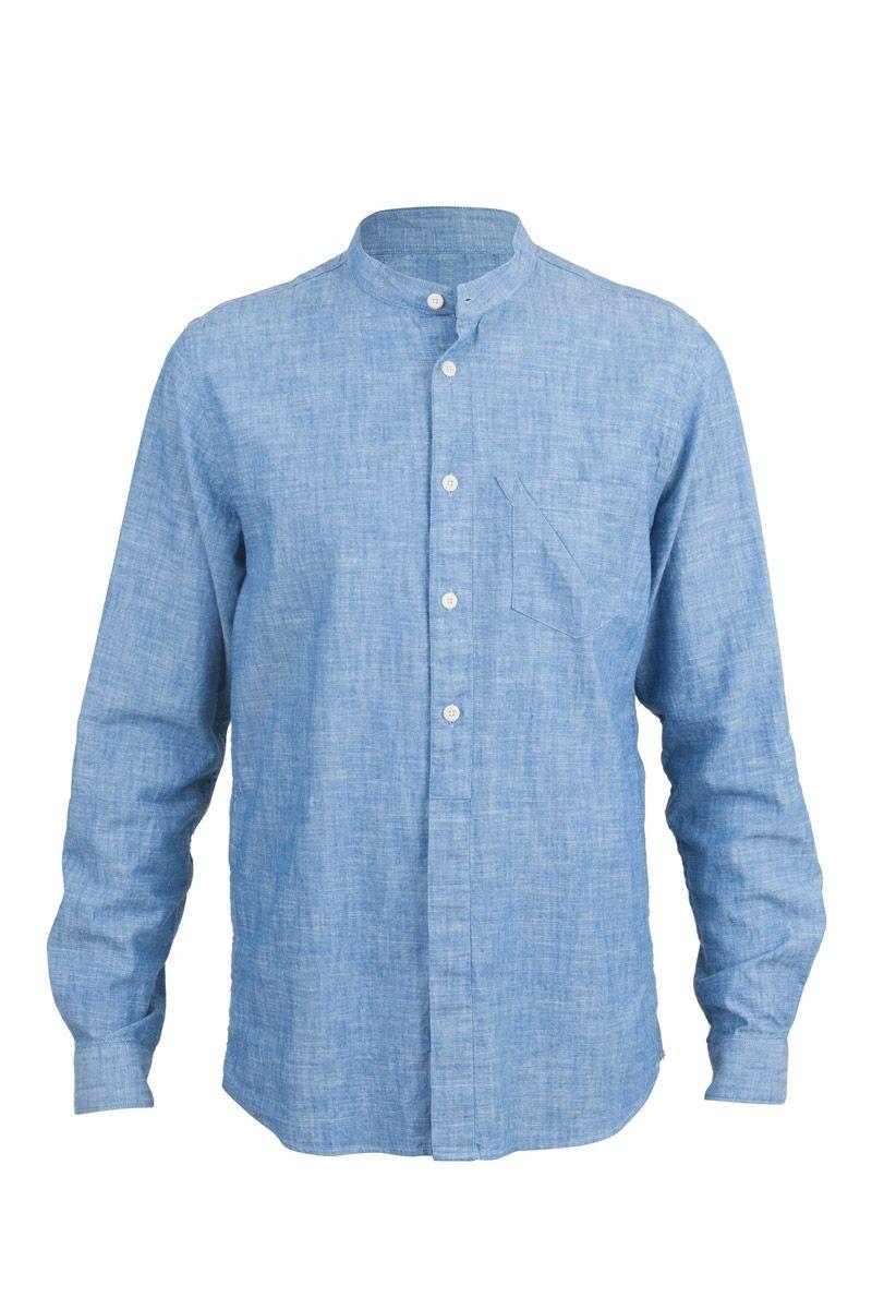 Grandad Shirt - Chambray | Shirting