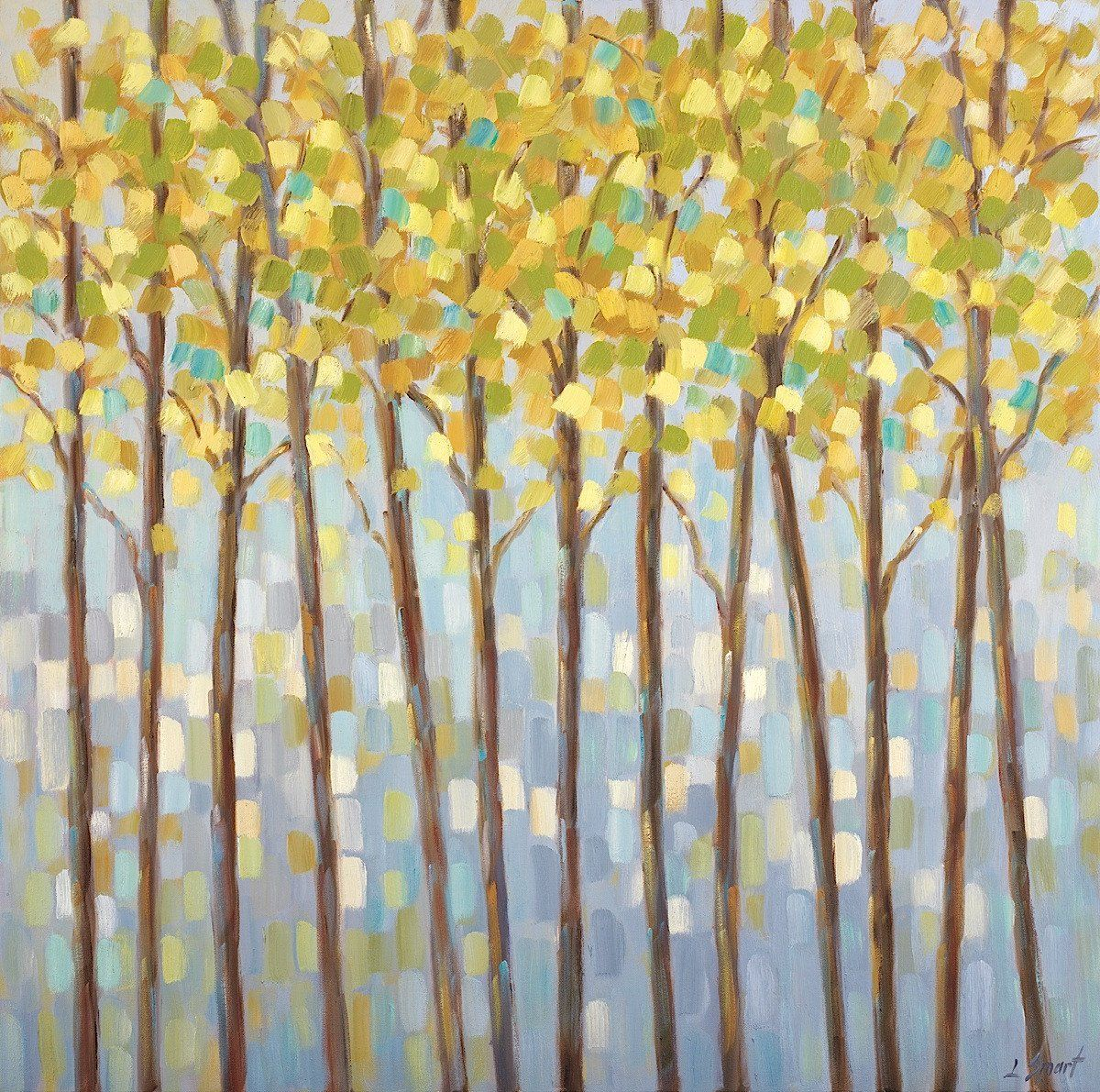 Glistening Tree Tops   Decorative paintings and Products