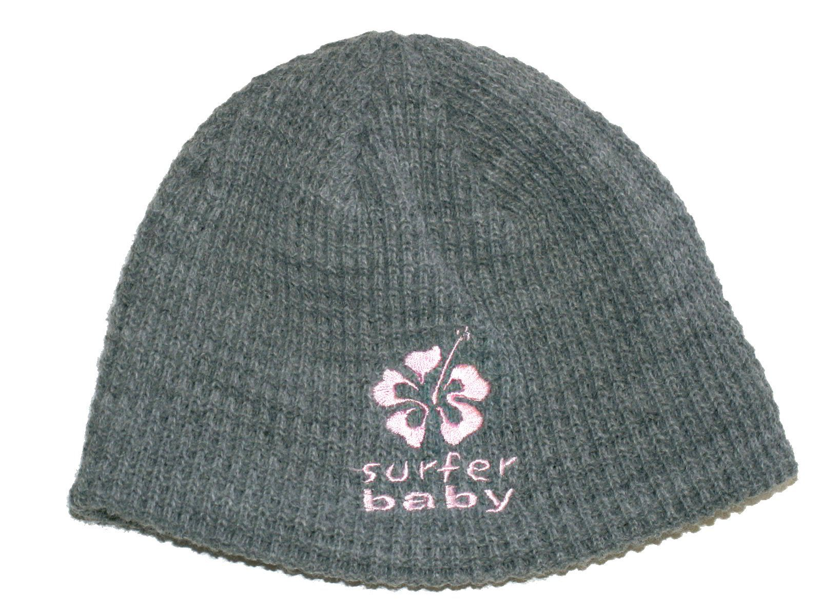 f2303880 Surfer Baby Logo Grey Knit Beanie Hat Skullcap for Toddlers (Pink). Gray  waffle-weave knit with embroidered logo. The toddler size fits  approximately 1-4 ...