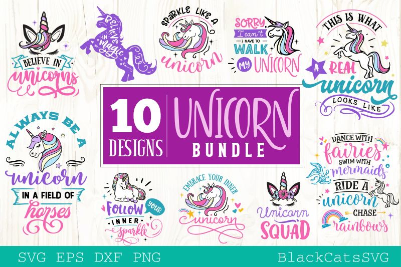 The Unicorn Pack (Graphic) by sssilent_rage Unicorn
