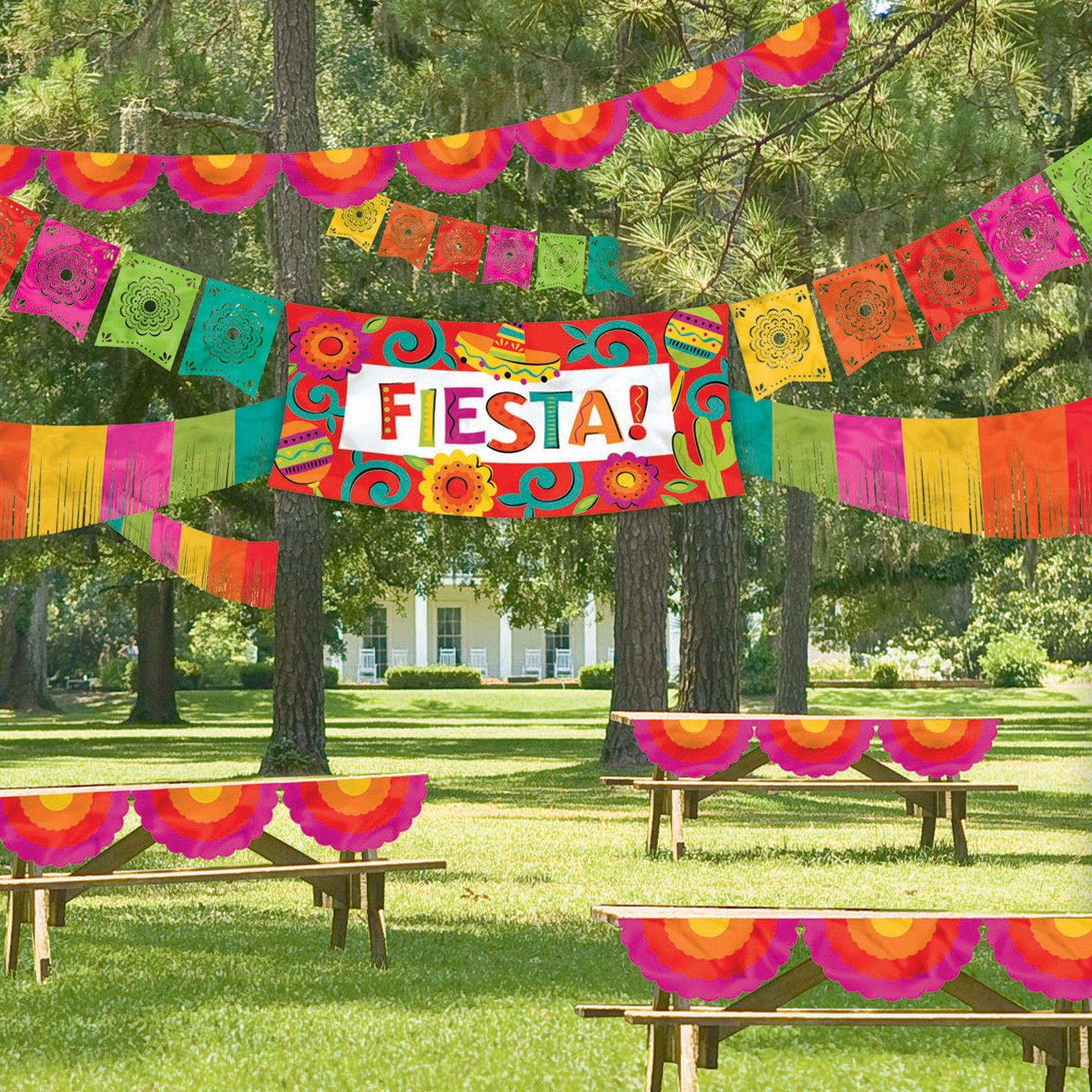 Fiesta table decorations ideas - Fiesta Decorating Kit 29 99 Includes 3 Banners Plastic Bunting