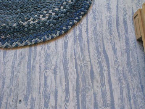 Plywood Flooring Ideas Faux Bois Floor Or How I Painted A Fake - Faux wood floor plywood flooring