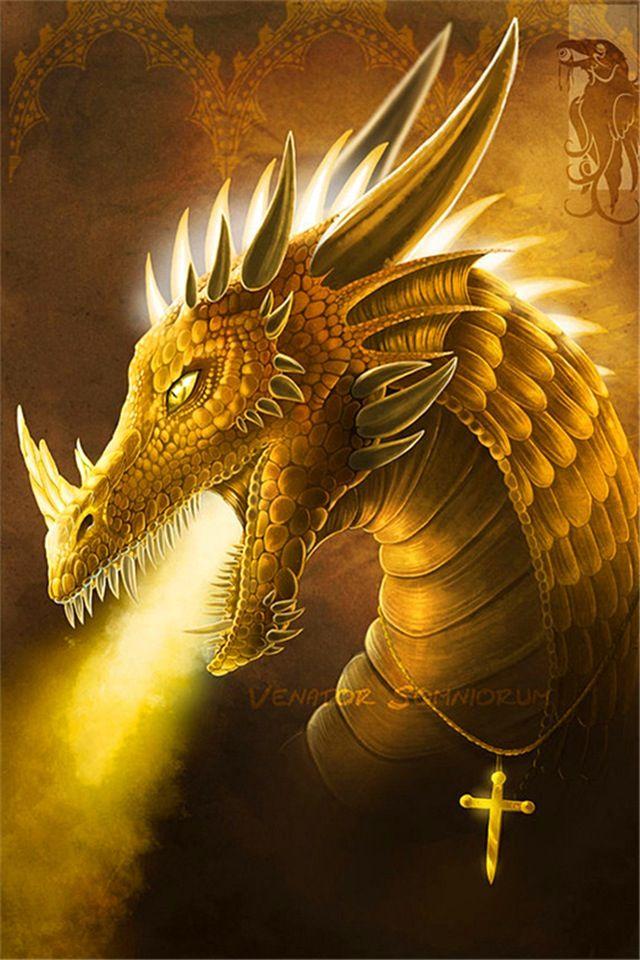 Golden dragon   Dragons!!!!!   Dragon illustration, Gold dragon, Dragon