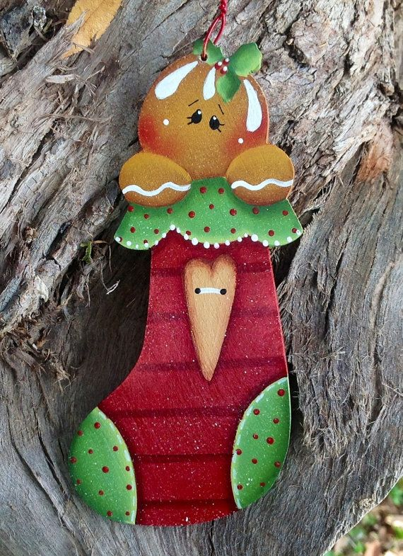 Ginger Stocking Ornament by CountryCharmers on Etsy