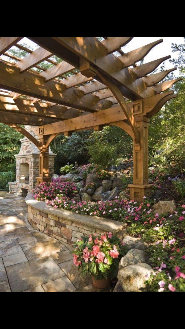 60 Stunning Outdoor Living Spaces | Backyard, Backyard ... on Side Yard Pergola Ideas id=62502
