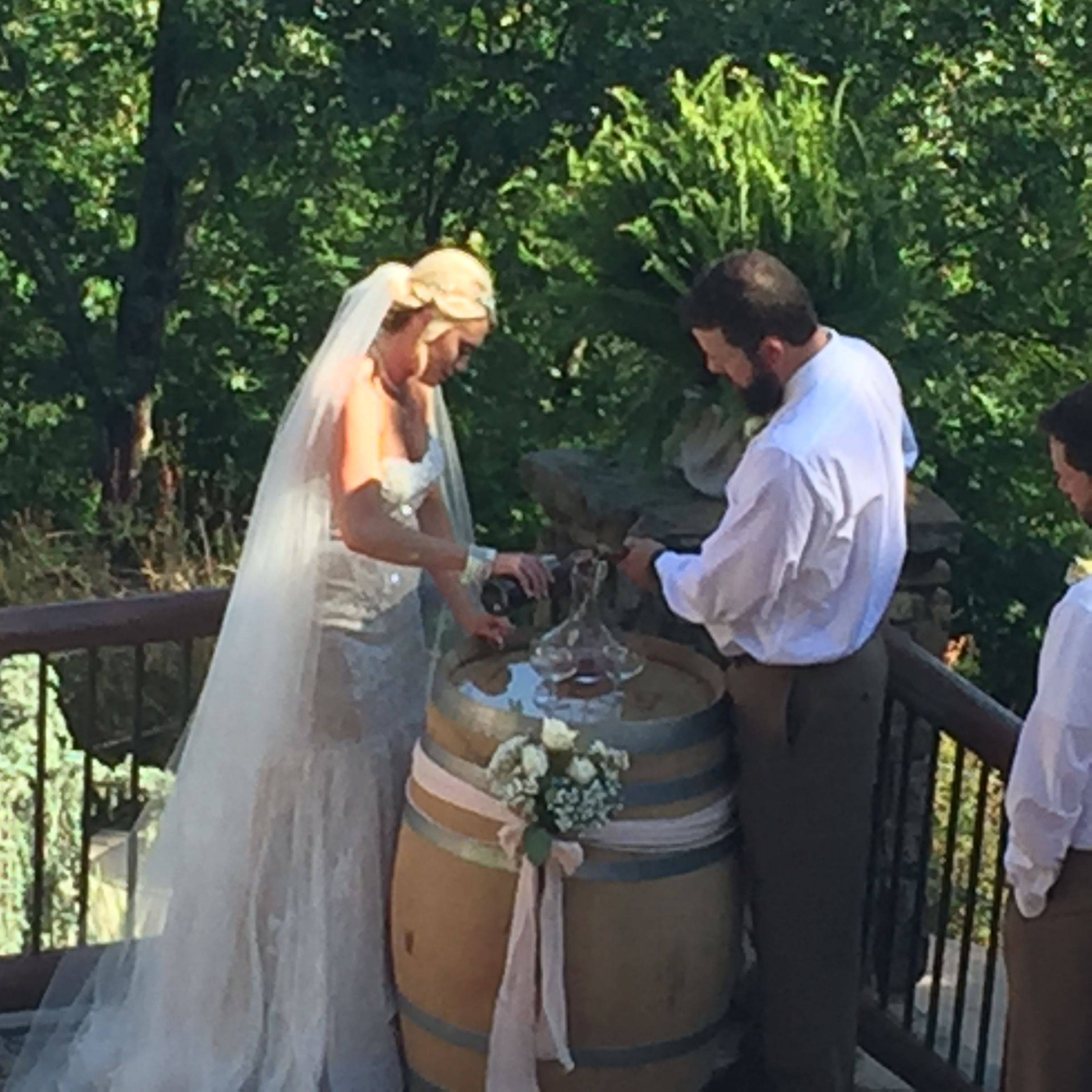 Wine Blending Wedding Ceremony At An Enchanting Evening